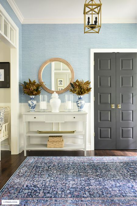 Fall home decor featuring a gorgeous new washable rug from Walmart and simple seasonal touches   #LTKhome #LTKSeasonal #LTKstyletip