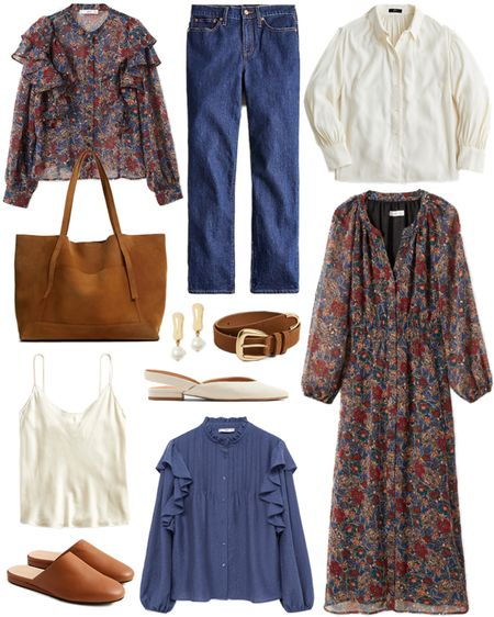 Under $100 roundup! Obsessed with this fall print 🙌🏼 Think I need both the blouse and the dress! Shop this budget-friendly collage + more by following MERRITTBECK on the LTK app!  #tssedited #thestylescribe #affordable #fall #classic #budgetfriendly  #LTKunder50 #LTKunder100