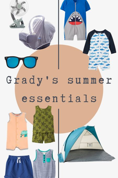 Grady's summer essentials, including rash guards, polarized sunnies, our favorite outfits, stroller fan, and more!  http://liketk.it/3h8Kc @liketoknow.it #liketkit #LTKunder50 #LTKunder100 #LTKbaby