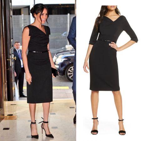 Meghan's black halo dress perfect for holidays #cocktail #newyears #party #lbd #sheath #dress  #LTKeurope #LTKworkwear