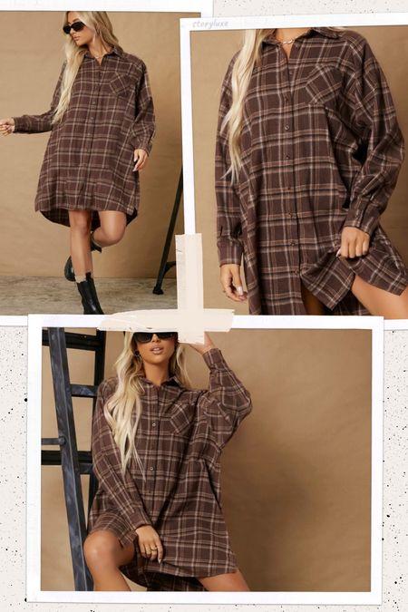 Women's fashion! SHEIN flannel dress!   #LTKSeasonal #LTKunder50 #LTKstyletip