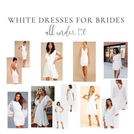White dresses for brides and bridal events    http://liketk.it/39OZP #liketkit @liketoknow.it #LTKwedding #LTKunder50 #LTKsalealert