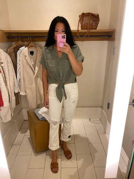 Anthropologie try-on: the perfect boyfriend crop jeans.   #LTKstyletip