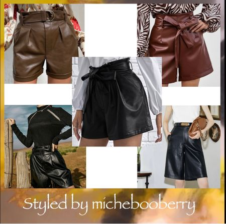 Faux Leather Shorts #fall #fall2021 #faux #fauxleather #shorts #trends #trending   Follow my shop @miche.boo-berry_california on the @shop.LTK app to shop this post and get my exclusive app-only content!  #liketkit  @shop.ltk http://liketk.it/3pNJN     #LTKGiftGuide #LTKSeasonal #LTKunder100