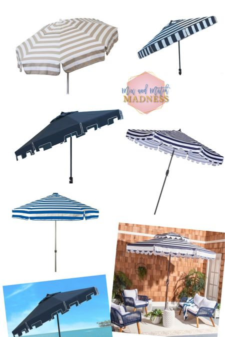 No patio is complete without a fun umbrella for some shade in my opinion! Loving these striped and solid ones with the detail around the edges!   http://liketk.it/3fXYF #liketkit @liketoknow.it #LTKhome #LTKsalealert @liketoknow.it.home