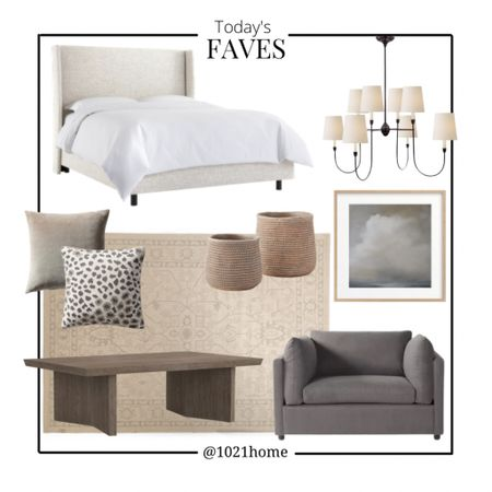 Bedroom, family room, rug, chandelier, art, planter, bed, chair   http://liketk.it/3drWc m #liketkit @liketoknow.it #LTKsalealert #LTKstyletip #LTKhome @liketoknow.it.home