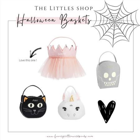 Halloween Baskets for kids. Trick or treating with the cutest baskets out there and keep them for years to come! xoxo #HalloweenBaskets #Trickortreat    #LTKkids #LTKSeasonal #LTKfamily