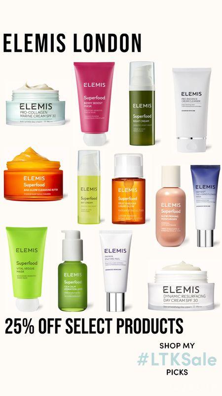 Elemis London 25% off select products  Skincare   #LTKsalealert #LTKbeauty #LTKSale