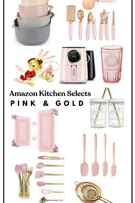 Amazon Finds. Pink and Gold kitchen finds  #LTKsalealert