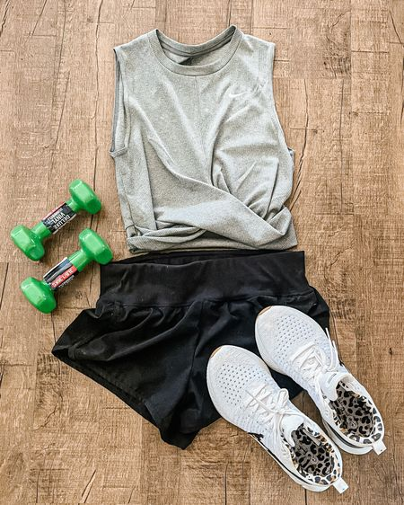 Workout clothes for women. Summer fitness essentials! Running shorts. Nike twist front top. White Nike leopard print sneakers. Nike tennis shoes. The most comfortable sneakers. Nike flyknit sneakers. Running shoes. Three pound weights. Zella running shorts. Zella workout shorts. Black Zella shorts. Get in shape for summer. Nordstrom finds. Amazon weights. Trendy workout clothes. ❤️ http://liketk.it/3gCuZ @liketoknow.it #liketkit #LTKfit #LTKstyletip #LTKshoecrush Shop your screenshot of this pic with the LIKEtoKNOW.it shopping app Shop my daily looks by following me on the LIKEtoKNOW.it shopping app