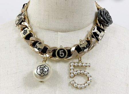 Here's a cool and chic designer inspired necklace! So fun and it's under $40!!!   #LTKunder100 #LTKGiftGuide #LTKstyletip