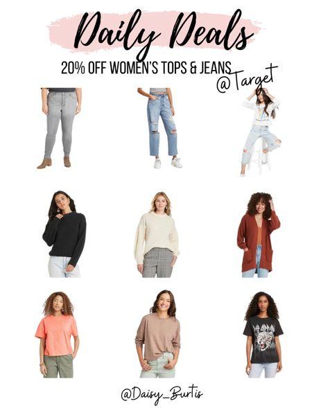20% off women's tops & jeans with Target circle!!!   Fall fashion, but #neverpayfullprice    #LTKsalealert #LTKSeasonal #LTKstyletip