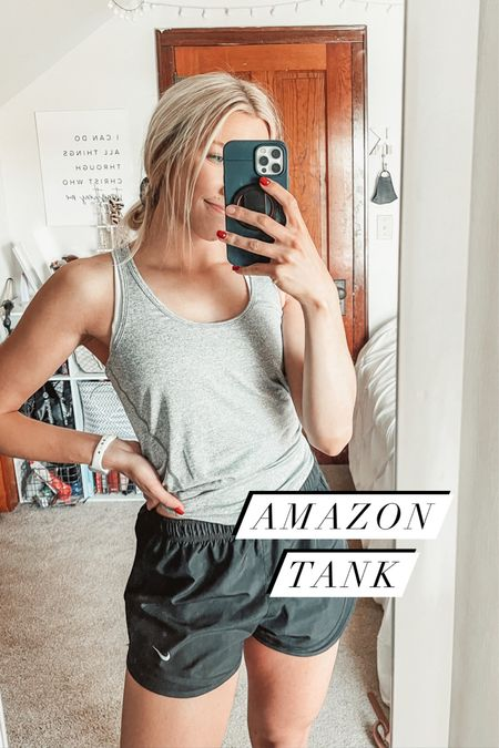 Affordable workout tank tops from Amazon - $20 for a pack of three 🙌  #LTKunder50 #LTKstyletip #LTKfit