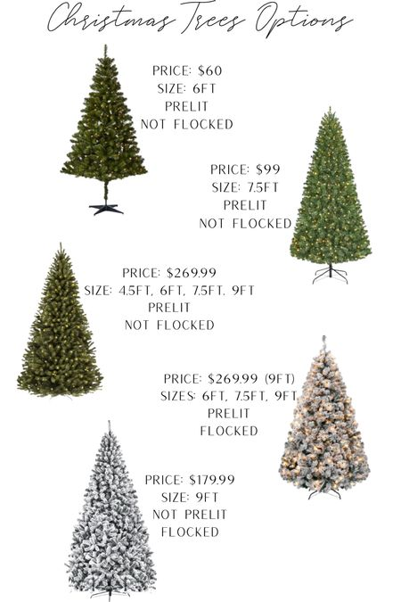 Christmas tree options that will all get here in time!! Good prices & full stock whether you want to splurge or save.   #LTKSeasonal #LTKHoliday #LTKstyletip
