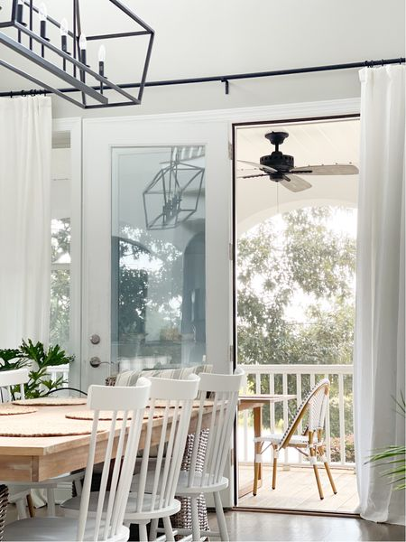 The right outdoor decor makes for seamless transitions inside & out. . You can shop this look over on the LIKEtoKNOW.it app. Check out my stories for a link.  . . . . . #outdoordining #porchdecor #patiofurniture #diningroomdecor #coastalhome #waterfronthome #coastalfarmhouse #diningroomdecor #diningroominspo #diningroomgoals