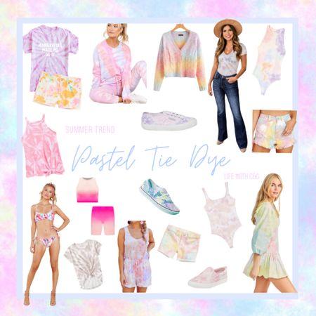 Pastel tie dye ombré rainbow summer style. Tie dye dress. Tie dye shorts. Tie dye sneakers.     http://liketk.it/3fHWJ #liketkit @liketoknow.it #LTKfamily #LTKstyletip @liketoknow.it.family