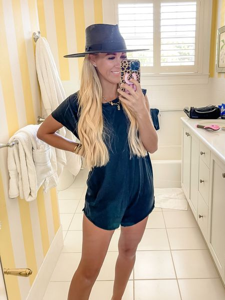 This romper is always sold out! Grab it while you can. SO COMFY! I'm wearing an XS    #LTKunder50 #LTKtravel #LTKstyletip