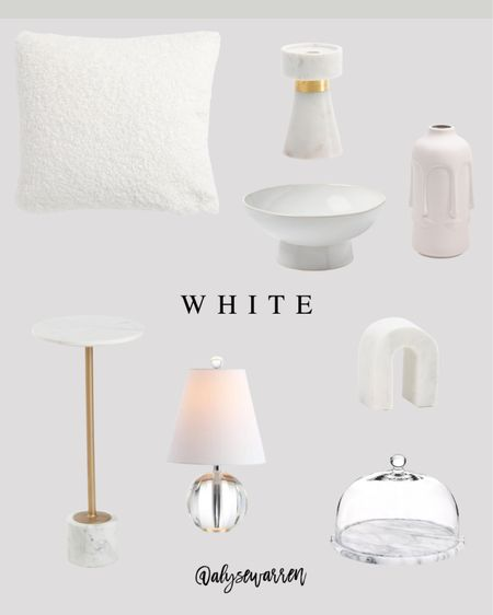 Affordable home decor with mostly finds from TJ Maxx online!  Teddy pillow, bedroom inspiration, living room, couch, sofa, marble candleholder, footed bowl, fruit bowl, Target decor, kitchen decor, face vase, console table decor, side table, crystal lamp, cake plate with glass dome, bookshelf decor    #LTKhome