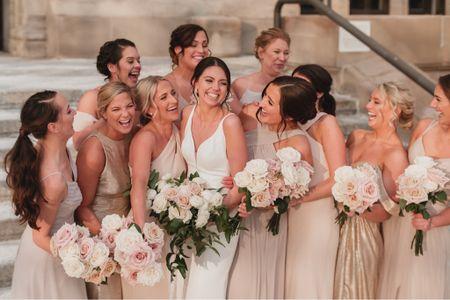 Just a bride & her beautiful BFF's 💕  #bride #bridesmaids #bridesquad #girlsquad #neutralwedding #neutralbridesmaids #champagnebridesmaids #champagnedresses #pearlwedding #pearlaccessories #bridalaccessories #weddingshoes #pearlearrings #weddingshoes #pearlveil #weddingveil #whiteheals #whiteshoes http://liketk.it/37OUV #liketkit @liketoknow.it http://liketk.it/37OW3