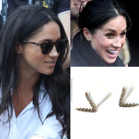Meghan wearing Zofia day dash earrings #wedding #diamond  #LTKGiftGuide #LTKstyletip #LTKwedding