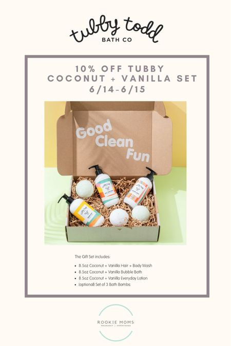 We're coco-NUTS for tropical skincare from Tubby Todd and save 10% through tomorrow   http://liketk.it/3hCmL #liketkit @liketoknow.it #LTKbump @liketoknow.it.family @liketoknow.it.home Shop your screenshot of this pic with the LIKEtoKNOW.it shopping app #LTKkids #LTKbaby