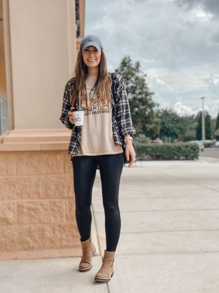 **sizing:  Plaid shirt: from target last year |T-Shirt: small | leggings: small | boots 8 |   Walmart fashion. MTV shirt. Leggings. Chelsea boots. Casual outfit. Leggings outfit.  #walmartfashion #walmartfinds #walmartstyle #targetfashion #target #targetfinds #targetstyle #targetleggings #affordablefashion #ltkunder20 #ltkunder30 #casualfashion #casualfalloutfit    #LTKstyletip #LTKSeasonal #LTKunder50