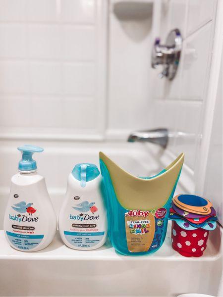 Baby Dove and Nuby Bath Time Set for sensitive skin for babies on Amazon   #LTKbaby #LTKbump #LTKfamily