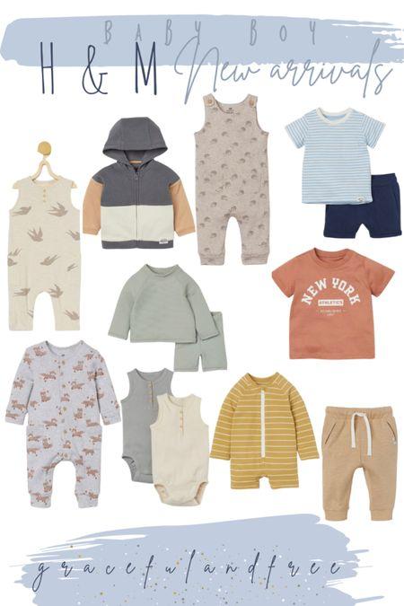 Baby boy new arrivals H&M plus 10% off  Baby boy outfits. Baby boy onesies. Baby boy summer outfits. Newborn baby.   #LTKbaby #LTKkids #LTKfamily