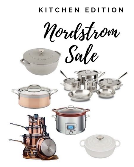 Nordstrom half sale, lots of kitchen finds!  @liketoknow.it.home @liketoknow.it.family #LTKsalealert #LTKhome #LTKfamily @liketoknow.it #liketkit http://liketk.it/3giof          Kitchen Kitchen makeover  Kitchen cookware  Le creuset  Stoneware Cast iron pot French oven Dutch pan Copper kitchen