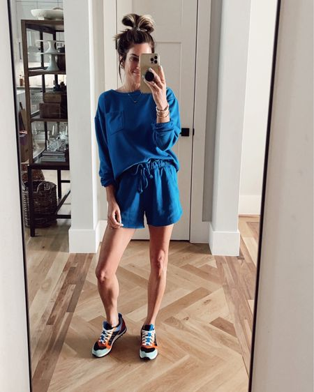 Target sweatshirt is small Target comfy shorts are xs  Sneakers are true to size.     http://liketk.it/3hg3i @liketoknow.it #liketkit #LTKshoecrush #LTKtravel #LTKstyletip