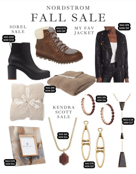Nordstrom rack has some amazing sales right now! From Kendra Scott jewelry to sorel boots to barefoot dreams and even my favorite black leather jacket that I have had for several years and still love it! I love the rose gold hardware!  Fall outfit, fall jacket, black leather jacket, wedges, heels, snow shoes, snow boots, snow vacation, ski vacation, winter jewelry, Kendra Scott jewelry, gold jewelry, earrings, necklace, fall neutrals  #LTKSeasonal #LTKsalealert #LTKunder100
