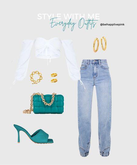 Cute top  Cute jeans Bottega Veneta Gold Jewelry   #LTKfit