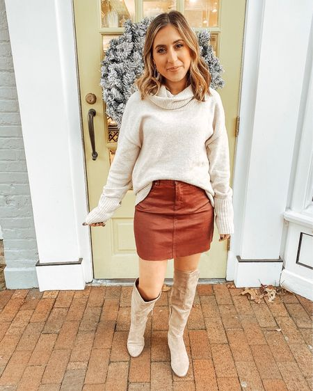 So many Thanksgiving outfit options including this skirt for 40% off! Would you be interested in a post of all my suggestions?! 🙋🏻♀️ Stay tuned...  Shop all my looks on shoppedtilshedropped.com or in the LIKEtoKNOW.it app - simply download the app, give me a follow or screenshot one of my IG pics to shop! http://liketk.it/2GXbP #liketkit @liketoknow.it