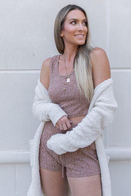 http://liketk.it/3jsqO / #liketkit @liketoknow.it #LTKunder50 #LTKstyletip #LTKsalealert Amazon fashion Amazon finds two piece set lounge wear popcorn sweater cardigan initial necklace