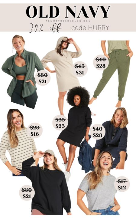 Old Navy 30% off code HURRY fall style fall fashion sweatshirt dress joggers oversized tunics tshirts #liketkit @liketoknow.it http://liketk.it/3nFn0 #LTKunder100 #LTKunder50 #LTKsalealert