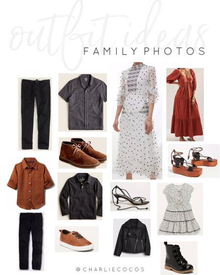 Family photo outfit ideas. Fall family photo outfit ideas. http://liketk.it/3l9m7 @liketoknow.it #liketkit #LTKsalealert #LTKstyletip #LTKunder50 #LTKunder100 #LTKfamily #LTKmens #LTKcurves #LTKkids #LTKshoecrush @liketoknow.it.family  Family pictures Family photos  Outdoor family photos Old navy  J.crew Anthropologie  Toddler boy outfit ideas Girls outfit ideas Mens outfit ideas Fall outfit ideas  Fall dresses Black dress Neutral family photo outfits Casual outfit Dark color palette Rich colors Black and white