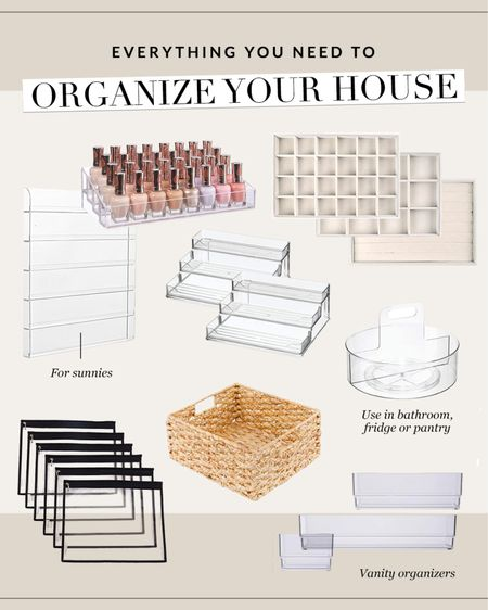 Everything you need to organize your house #organize  #LTKhome