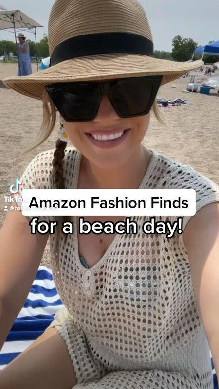 Amazon fashion finds for a beach day!   #LTKswim #LTKstyletip #LTKunder50