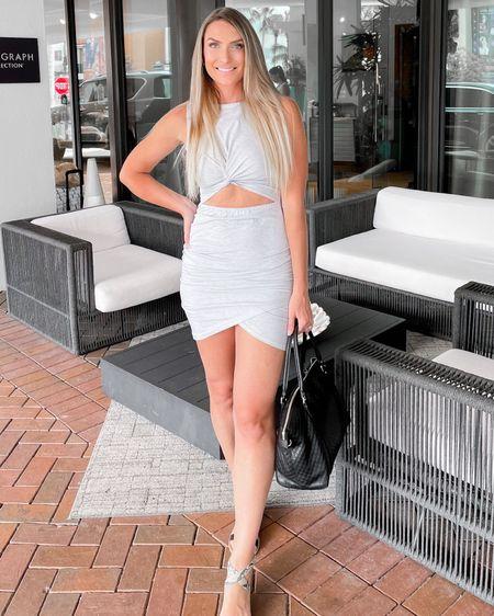 http://liketk.it/3k3r8 #liketkit @liketoknow.it #LTKunder50 #LTKshoecrush #LTKstyletip Amazon finds Amazon fashion summer dress cutout dress dolce vita sandals Gucci bag