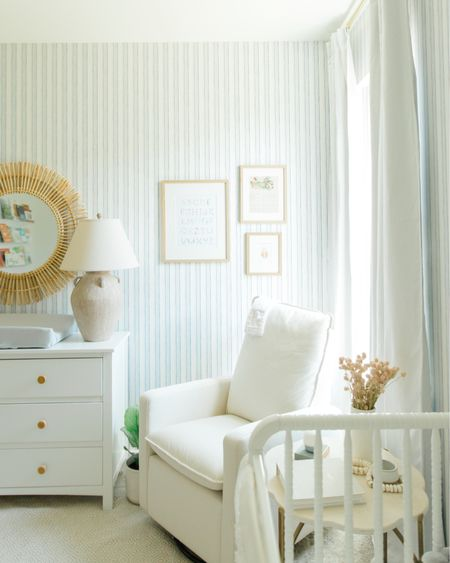 Corner of my nursery! I really love the swivel glider we went with. It look identical to one at pottery barn that retails for $799. Mine is $399 http://liketk.it/3hbCj #liketkit @liketoknow.it #LTKbaby #LTKkids #LTKhome