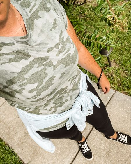 Everyday Mom Style. My go to look for school drop off and pick up. Comfortable athleisure midsize outfit  #LTKfamily #LTKbacktoschool #LTKcurves