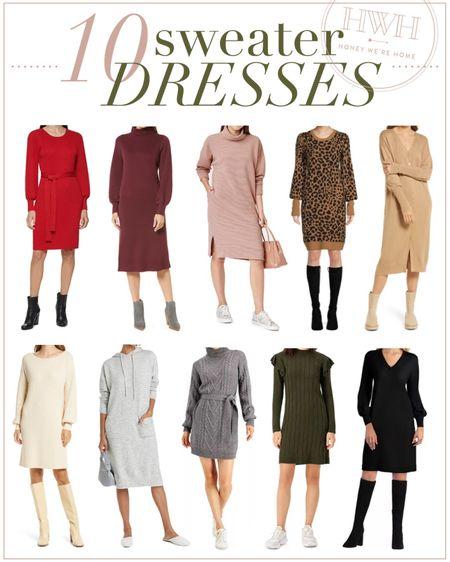 Ten Sweater Dresses  #LTKSeasonal #LTKstyletip #LTKsalealert