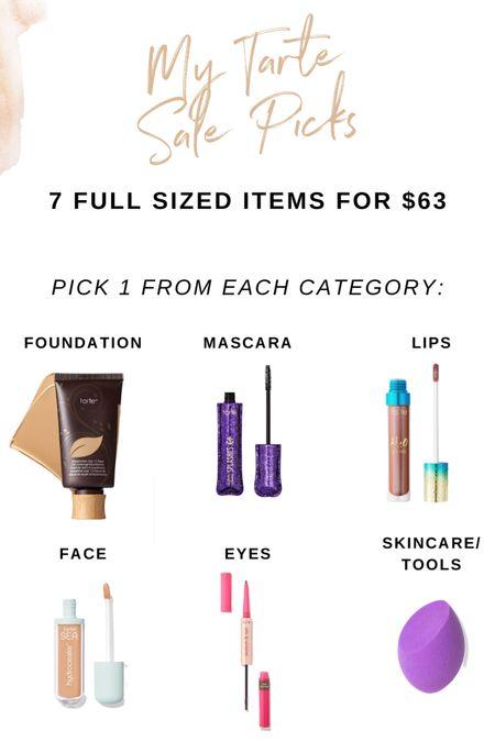 My personal items that are part of the Tarte Sale Get 7 full sized items for $63  #LTKsalealert #liketkit @liketoknow.it http://liketk.it/3hKuI #LTKbeauty