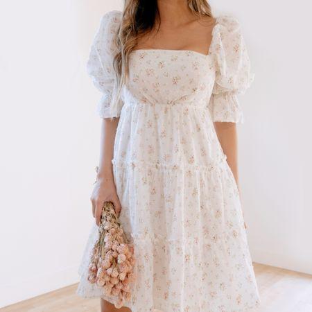 Anyone else crushing on cottage core this season?!   I linked some of my favorite smocked pieces including this @shopmorninglavender dress here http://liketk.it/3fymC #liketkit @liketoknow.it   #LTKunder100 #LTKstyletip