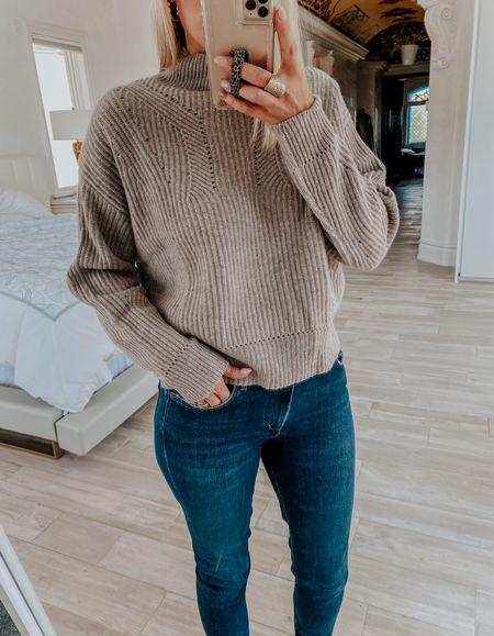 Cashmere sweater I love! Wearing small   #LTKunder100 #LTKsalealert #LTKunder50