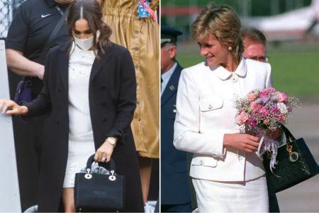 Meghan and Princess Diana carrying Dior handbags #purse #royal #coach #spade #camuto #kors   #LTKitbag