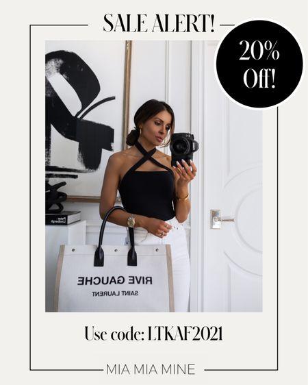 LTK Day Sale picks Abercombie sale - take 20% off with code LTKAF2021  Abercombie black bodysuit on sale - Wearing an XS   #LTKunder100 #LTKDay #LTKsalealert