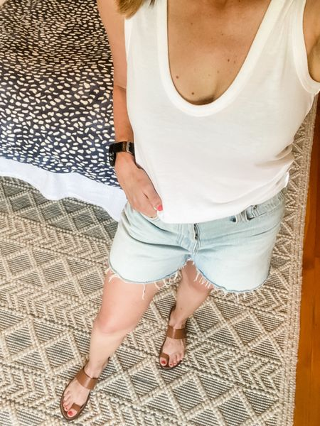 Anyone else getting a little bit sad that Jean shorts are about to be no longer in season? I always get a little bit sad towards the end of the summer that I'm gonna have to put away my Jean shorts. Thankfully, they're perfect for the transition if you wear a long sleeve top!  #LTKSeasonal #LTKbacktoschool #LTKstyletip