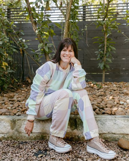 TGIF! Why is it that short weeks always feel the longest? And as cute athleisure wear and sweatsuits continue to trend into fall and beyond, I am looking forward to wearing more sets with fun prints and colors like this one.  . This one is almost sold out, but I included a few set and separate options below. Quite a few are on amazing sale! . What do you have planned this weekend?  . . . .   #LTKunder100 #LTKstyletip #LTKsalealert