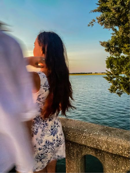 Dreamy white and blue floral dress perfect for travel!   #LTKtravel #LTKstyletip #LTKwedding